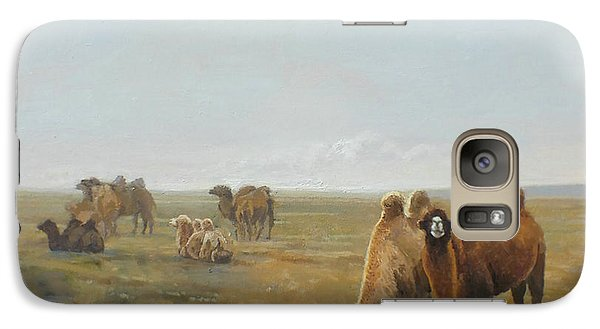 Camels Along The River Galaxy S7 Case by Chen Baoyi