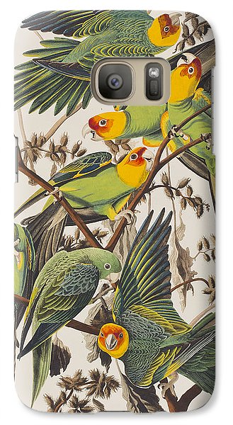 Carolina Parrot Galaxy Case by John James Audubon