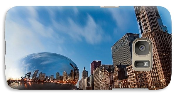 Chicago Skyline And Bean At Sunrise Galaxy S7 Case by Sven Brogren