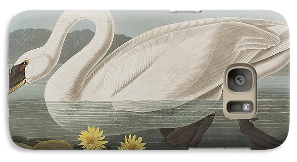 Common American Swan Galaxy Case by John James Audubon