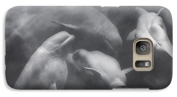 Dancing Belugas  Galaxy Case by Betsy Knapp
