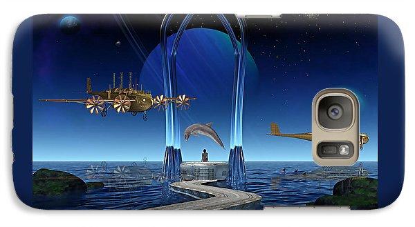 Dolphin Dreams Galaxy Case by Marvin Blaine