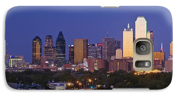 Downtown Dallas Skyline At Dusk Galaxy S7 Case by Jeremy Woodhouse