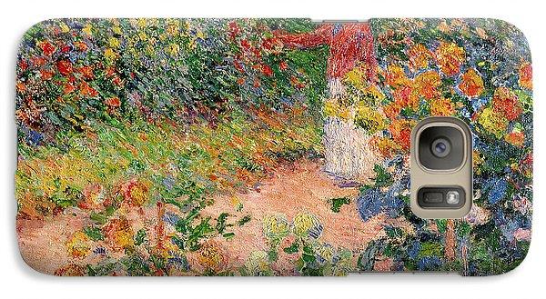 Garden At Giverny Galaxy Case by Claude Monet