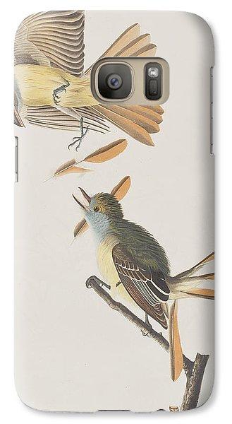 Great Crested Flycatcher Galaxy S7 Case by John James Audubon