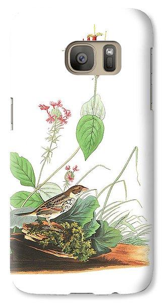 Henslow's Bunting  Galaxy S7 Case by John James Audubon
