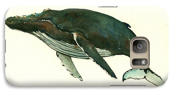 Humpback Whale  Galaxy Case by Juan  Bosco