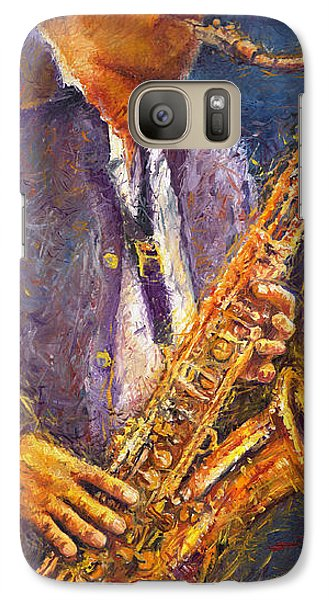 Jazz Saxophonist Galaxy S7 Case by Yuriy  Shevchuk