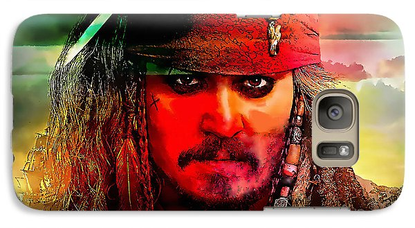 Johnny Depp Painting Galaxy Case by Marvin Blaine