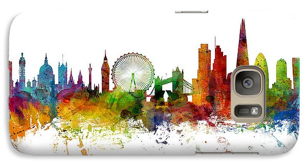 London England Skyline Panoramic Galaxy Case by Michael Tompsett