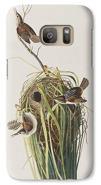 Marsh Wren  Galaxy S7 Case by John James Audubon