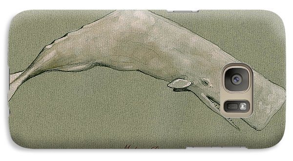 Moby Dick The White Sperm Whale  Galaxy Case by Juan  Bosco