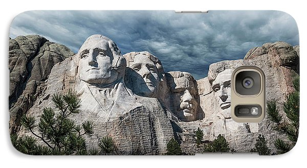 Mount Rushmore II Galaxy Case by Tom Mc Nemar