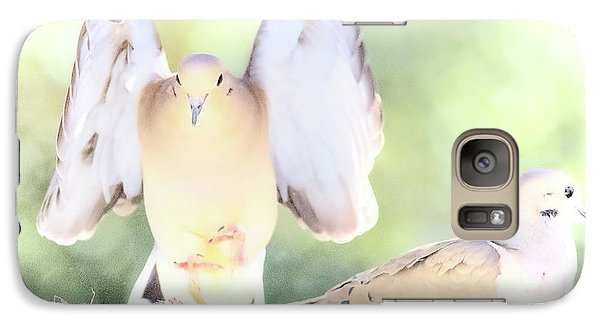 Galaxy Case featuring the digital art Mourning Dove Pair  by A Gurmankin