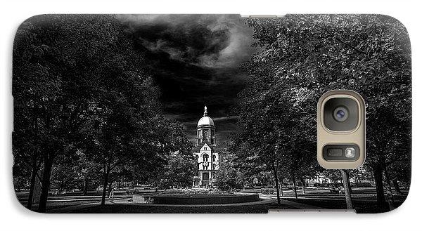Notre Dame University Black White Galaxy Case by David Haskett
