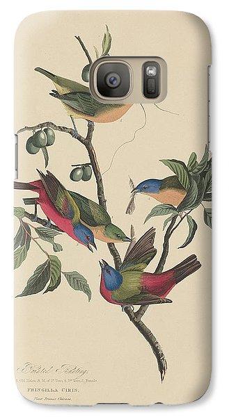Painted Bunting Galaxy S7 Case by John James Audubon