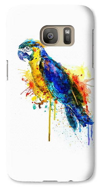 Parrot Watercolor  Galaxy Case by Marian Voicu