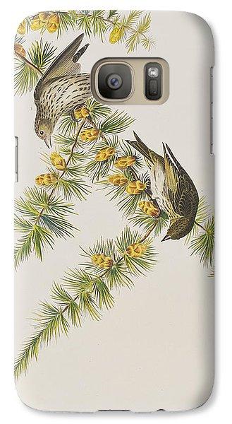 Pine Finch Galaxy Case by John James Audubon
