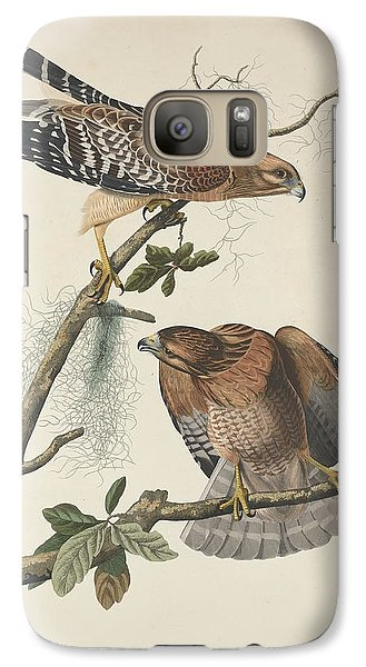 Red Shouldered Hawk Galaxy Case by John James Audubon