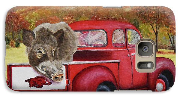 Ridin' With Razorbacks 2 Galaxy S7 Case by Belinda Nagy