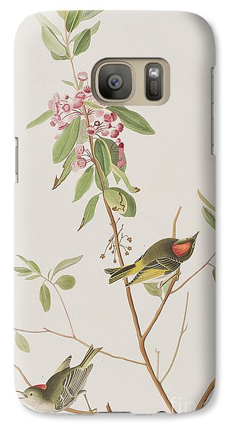 Ruby Crowned Wren Galaxy S7 Case by John James Audubon