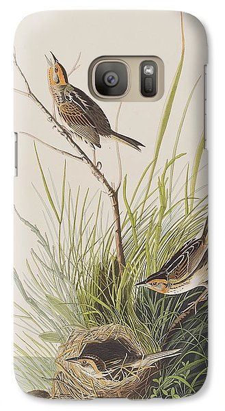 Sharp Tailed Finch Galaxy Case by John James Audubon