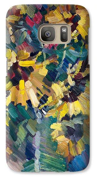 Sunflowers Galaxy Case by Nikolay Malafeev