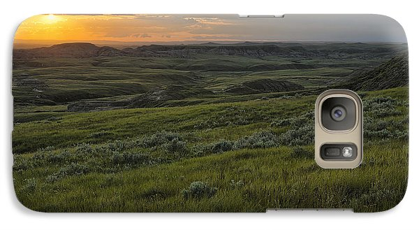Sunset Over Killdeer Badlands Galaxy S7 Case by Robert Postma