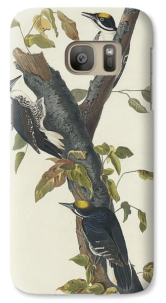 Three-toed Woodpecker Galaxy S7 Case by John James Audubon