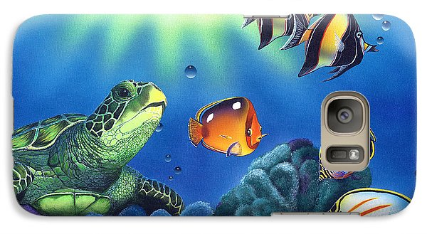 Turtle Dreams Galaxy Case by Angie Hamlin
