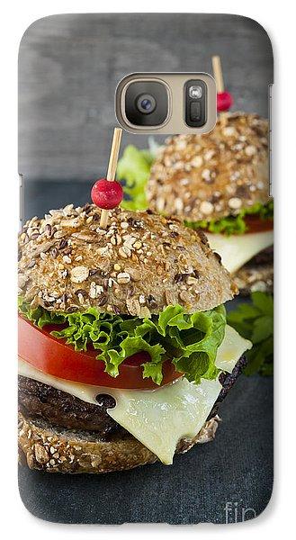 Two Gourmet Hamburgers Galaxy Case by Elena Elisseeva
