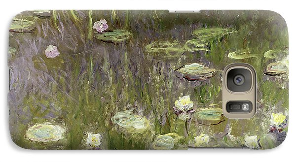 Waterlilies At Midday Galaxy Case by Claude Monet