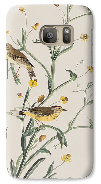 Yellow Red-poll Warbler Galaxy S7 Case by John James Audubon