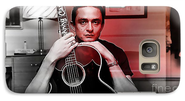 Johnny Cash Galaxy Case by Marvin Blaine