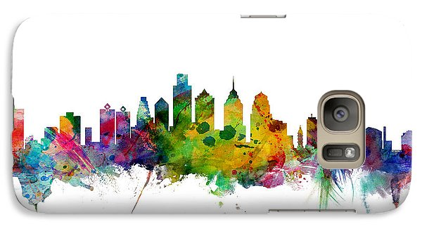 Philadelphia Pennsylvania Skyline Galaxy Case by Michael Tompsett