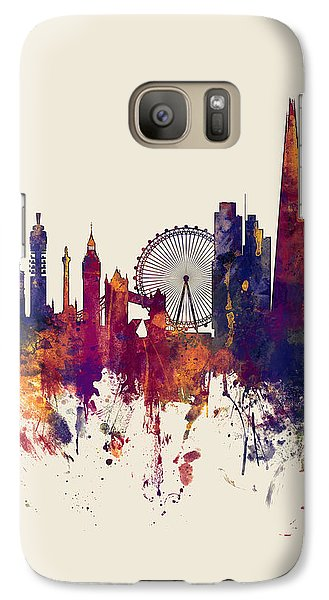 London England Skyline Galaxy Case by Michael Tompsett