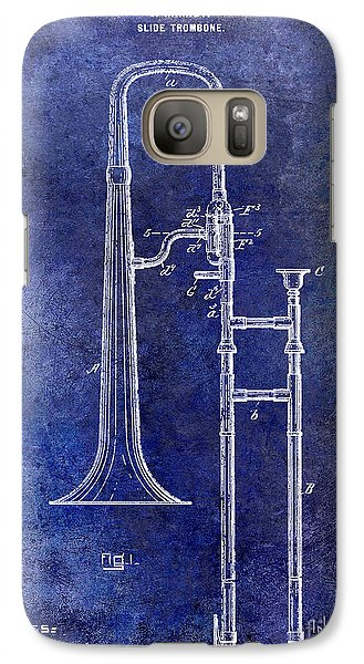 1902 Trombone Patent Blue Galaxy S7 Case by Jon Neidert
