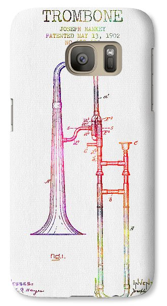 1902 Trombone Patent - Color Galaxy S7 Case by Aged Pixel