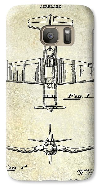 1946 Airplane Patent Galaxy Case by Jon Neidert