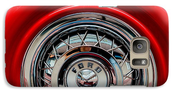 Galaxy Case featuring the photograph 1958 Ford Crown Victoria Wheel by M G Whittingham