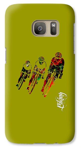 Bike Racing Galaxy Case by Marvin Blaine