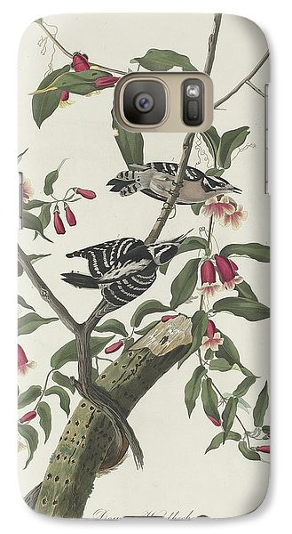 Downy Woodpecker Galaxy S7 Case by John James Audubon