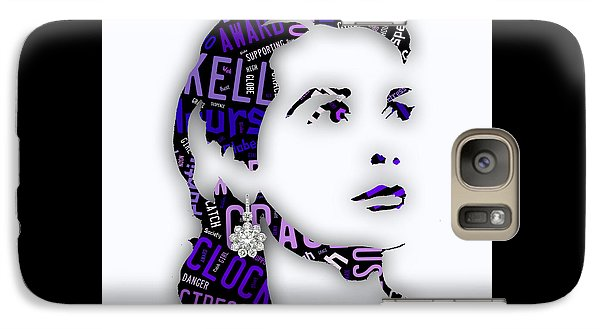 Grace Kelly Movies In Words Galaxy Case by Marvin Blaine