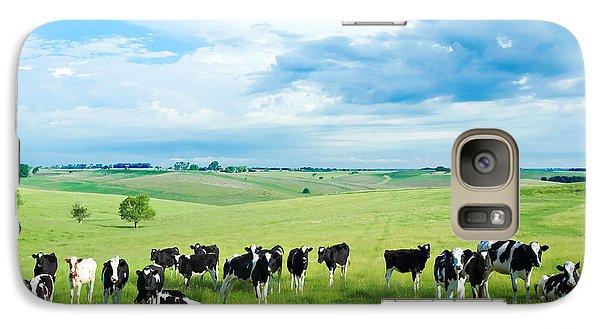 Happy Cows Galaxy S7 Case by Todd Klassy