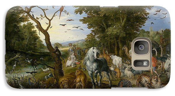 The Entry Of The Animals Into Noah's Ark Galaxy Case by Jan Brueghel the Elder
