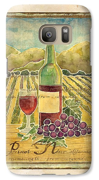 Vineyard Pinot Noir Grapes N Wine - Batik Style Galaxy S7 Case by Audrey Jeanne Roberts
