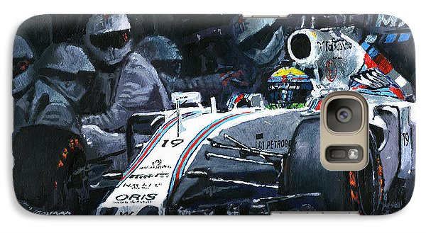2015 Williams Fw37 F1 Pit Stop Spain Gp Massa  Galaxy Case by Yuriy Shevchuk