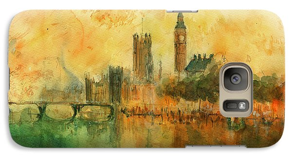 London Watercolor Painting Galaxy S7 Case by Juan  Bosco