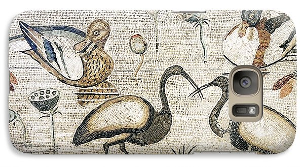 Nile Flora And Fauna, Roman Mosaic Galaxy Case by Sheila Terry