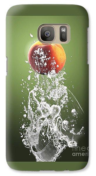 Peach Splash Galaxy Case by Marvin Blaine